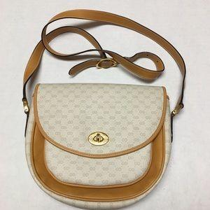 Vintage 1980s Gucci monogram crossbody bag purse